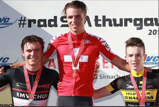 Médaille de bronze pour Vincent Roth aux Championnats suisses sur routes.